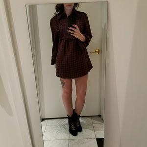 {LF} Plaid Flannel Checkered Dress
